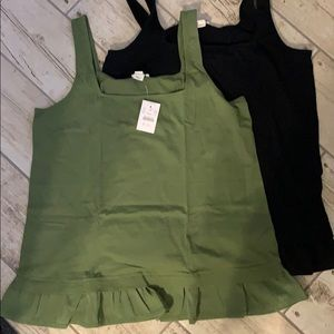 2 pack J Crew mixed media tanks